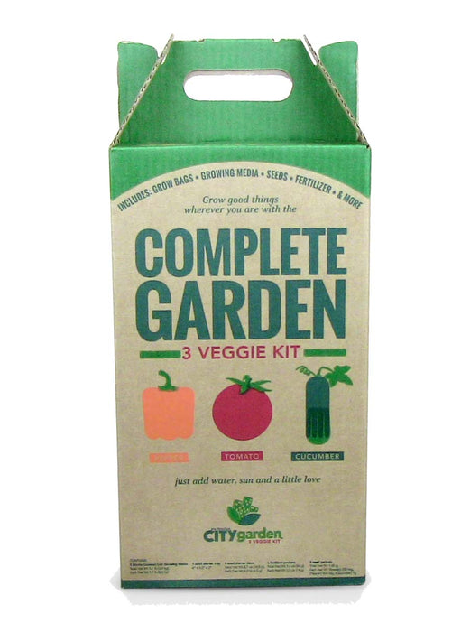 Vegetable Garden Kit - Grow Vegetables -Tomatoes, Peppers, Cucumbers From Seeds - Complete Grow Kit - Grow Your own Vegetables Kit - DIY Kit