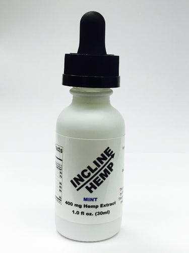 Incline Hemp Tincture Mint 400 mg Hemp Extract in 30 ml