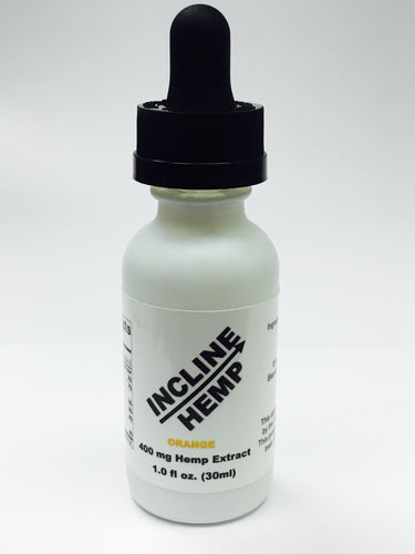 Incline Hemp Tincture Orange 400 mg Hemp Extract in 30 ml