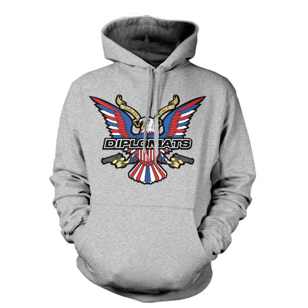 DIPSET USA EAGLE LOGO HOODY (GREY HEATHER)