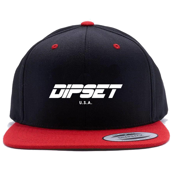 DIPSET LOGO SNAPBACK (BLACK/RED/WHITE)
