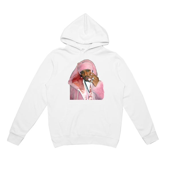 CAM'RON PINK MINK HOODY (WHITE)