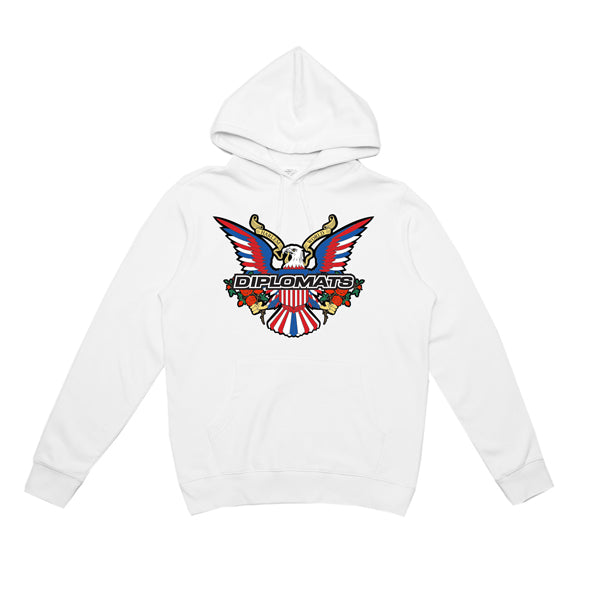 DIPSET EAGLE LOGO BOUQUET HOODY (WHITE)