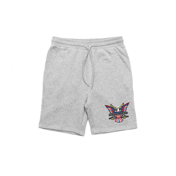 DIPSET EAGLE LOGO SWEAT SHORTS (GREY)