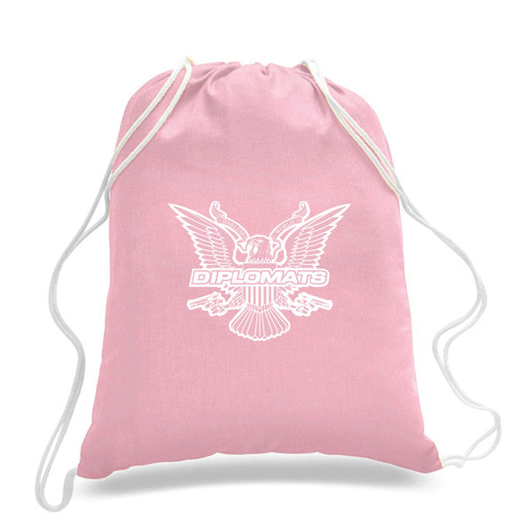 DIPSET USA EAGLE DRAWSTRING BACKPACK (PINK)