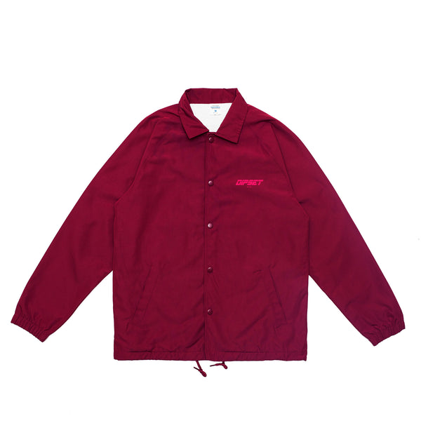 DIPSET COACHES JACKET (BURGUNDY)
