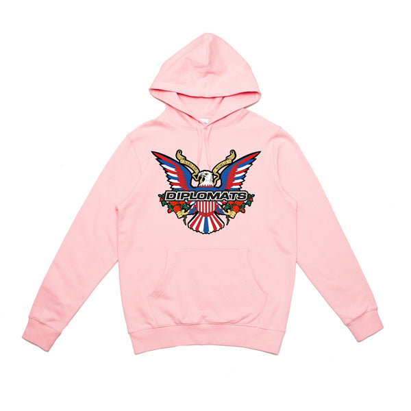 DIPSET EAGLE LOGO BOUQUET HOODY (PINK)