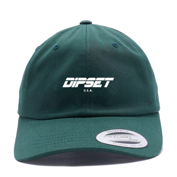 DIPSET DAD HAT (GREEN/WHITE)