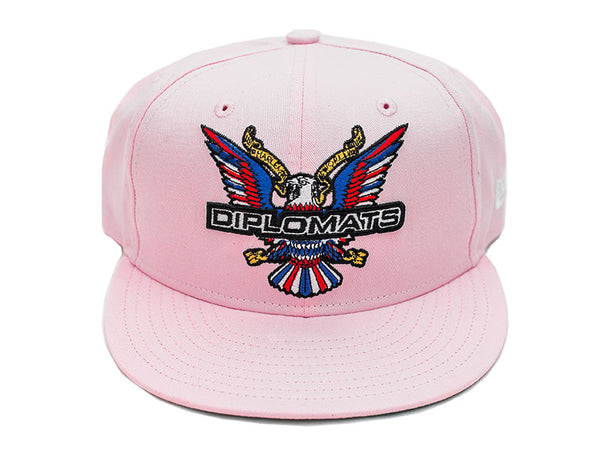DIPSET EAGLE LOGO NEW ERA 5950 SNAPBACK HAT (PINK)