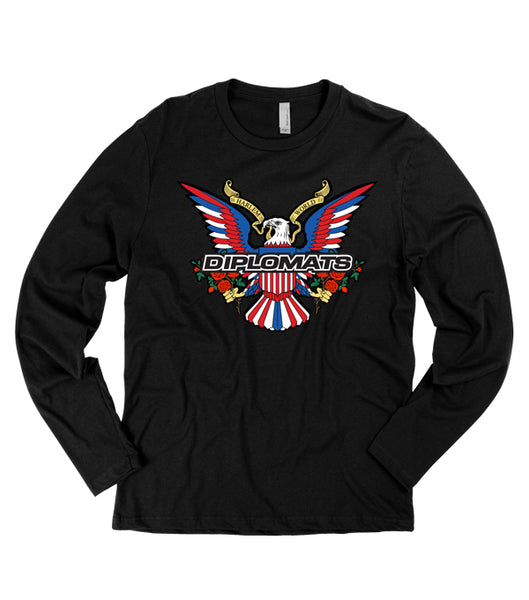 DIPSET EAGLE LOGO BOUQUET L/S TEE (BLACK)