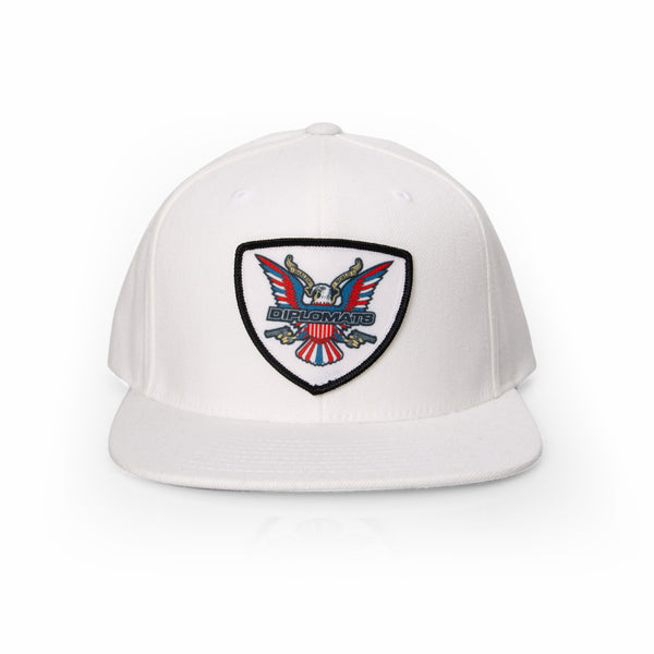 DIPSET EAGLE LOGO PATCH HAT (WHITE)