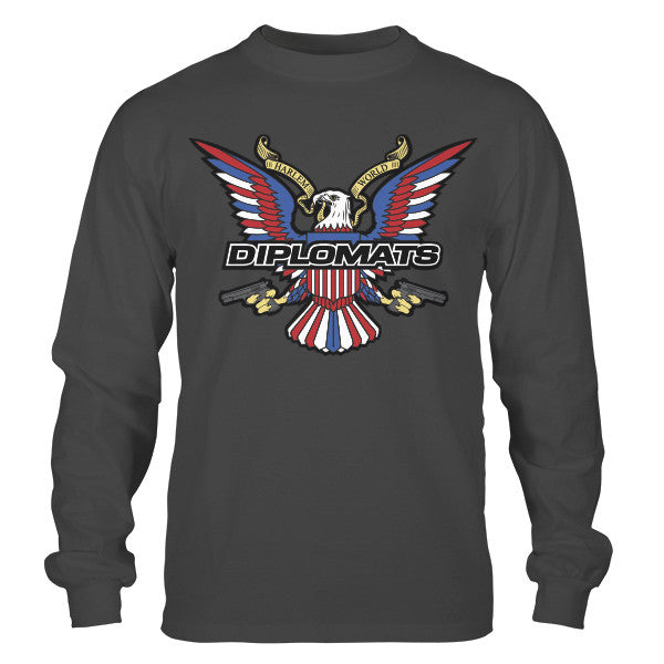DIPSET USA EAGLE LOGO LONGSLEEVE (HEAVY METAL)