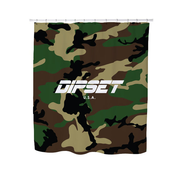 DIPSET CAMO LOGO SHOWER CURTAIN
