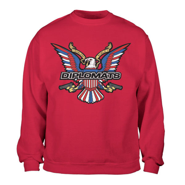 DIPSET USA EAGLE LOGO CREWNECK (RED)