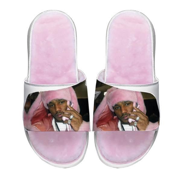 CAM'RON PINK MINK SLIDES (SIZES 4-12)