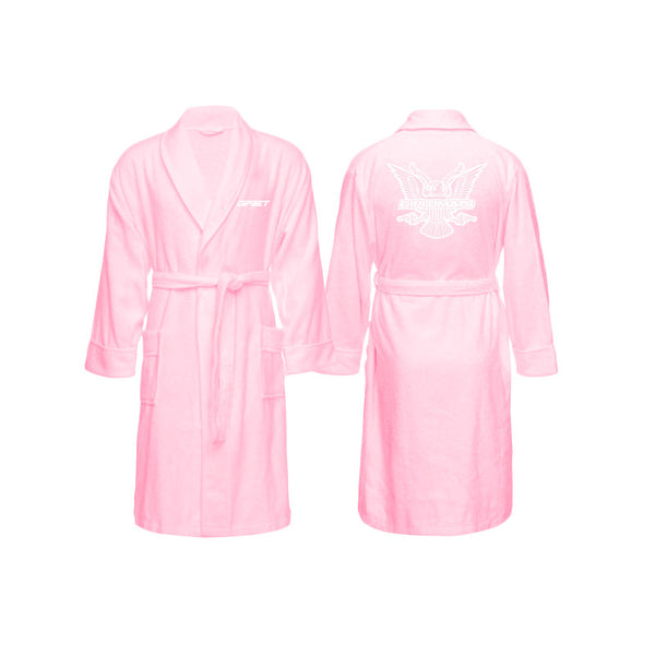 DIPSET EAGLE LOGO BATH ROBE (PINK)
