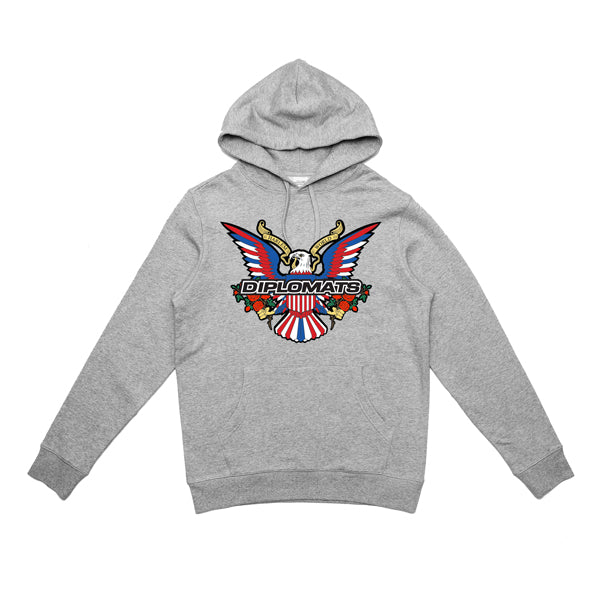DIPSET EAGLE LOGO BOUQUET HOODY (HEATHER GREY)