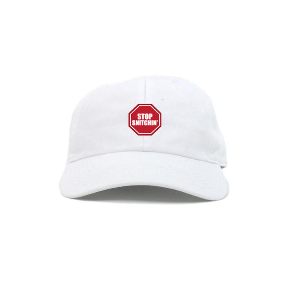 DIPSET STOP SNITCHIN DAD HAT (WHITE)