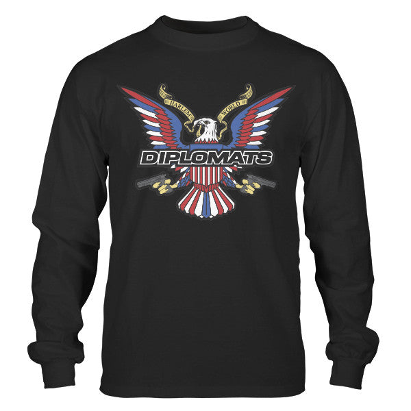 DIPSET USA EAGLE LOGO LONGSLEEVE (BLACK)