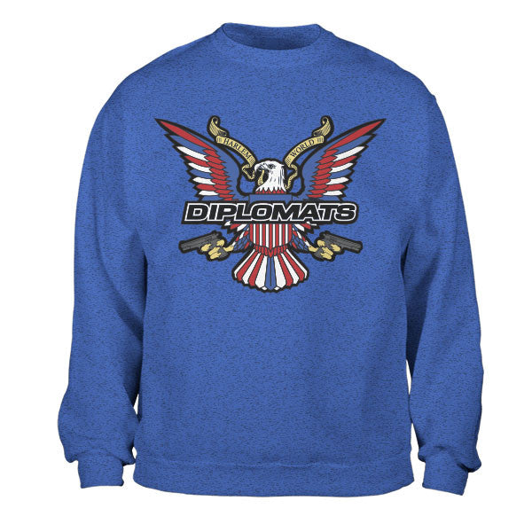 DIPSET USA EAGLE LOGO CREWNECK (ROYAL HEATHER)