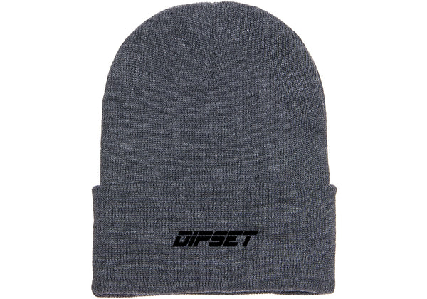 DIPSET LOGO BEANIE (HEATHER)