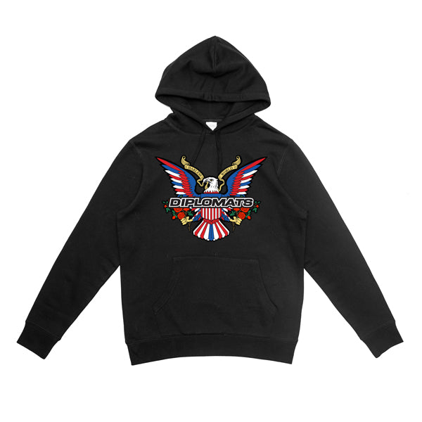 DIPSET EAGLE LOGO BOUQUET HOODY (BLACK)