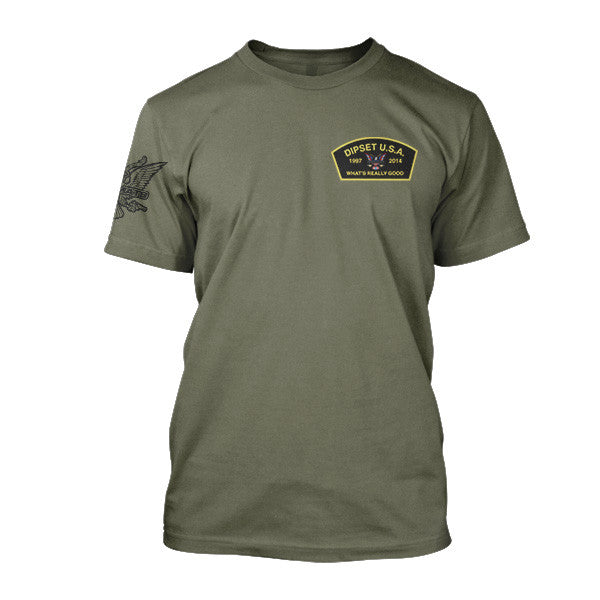 Dipset Vet Tee (MILITARY GREEN)