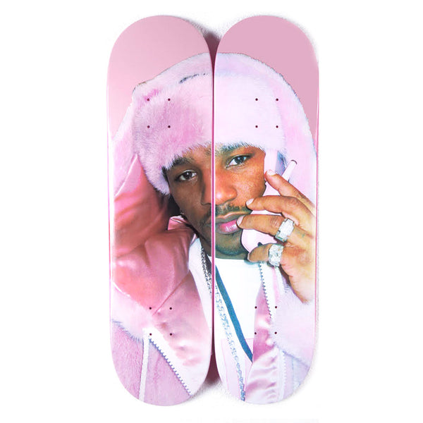CAM'RON PINK MINK SKATEBOARD SET