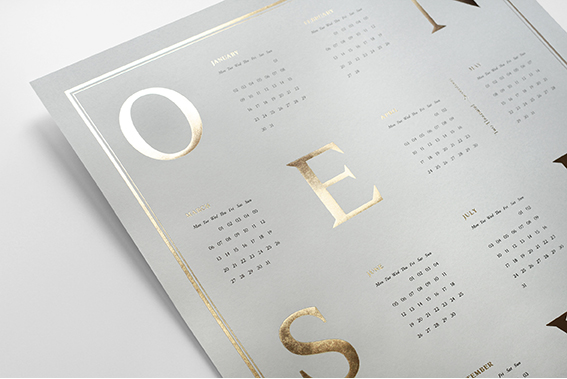 Beautiful 2017 calendars for designers