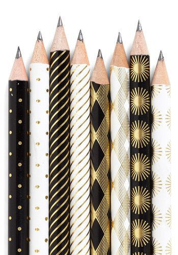Art-deco-inspired pencils from Chronicle Books on Modcloth