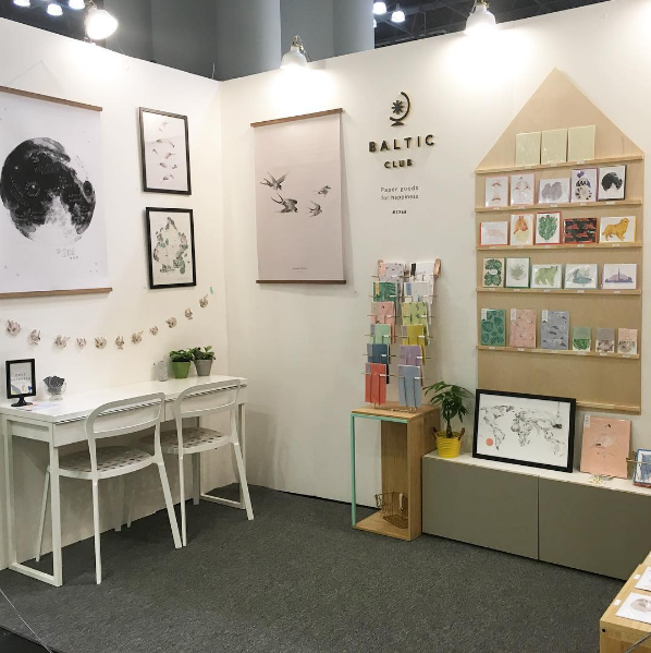 Kiosque du Baltic Club au National Stationery Show