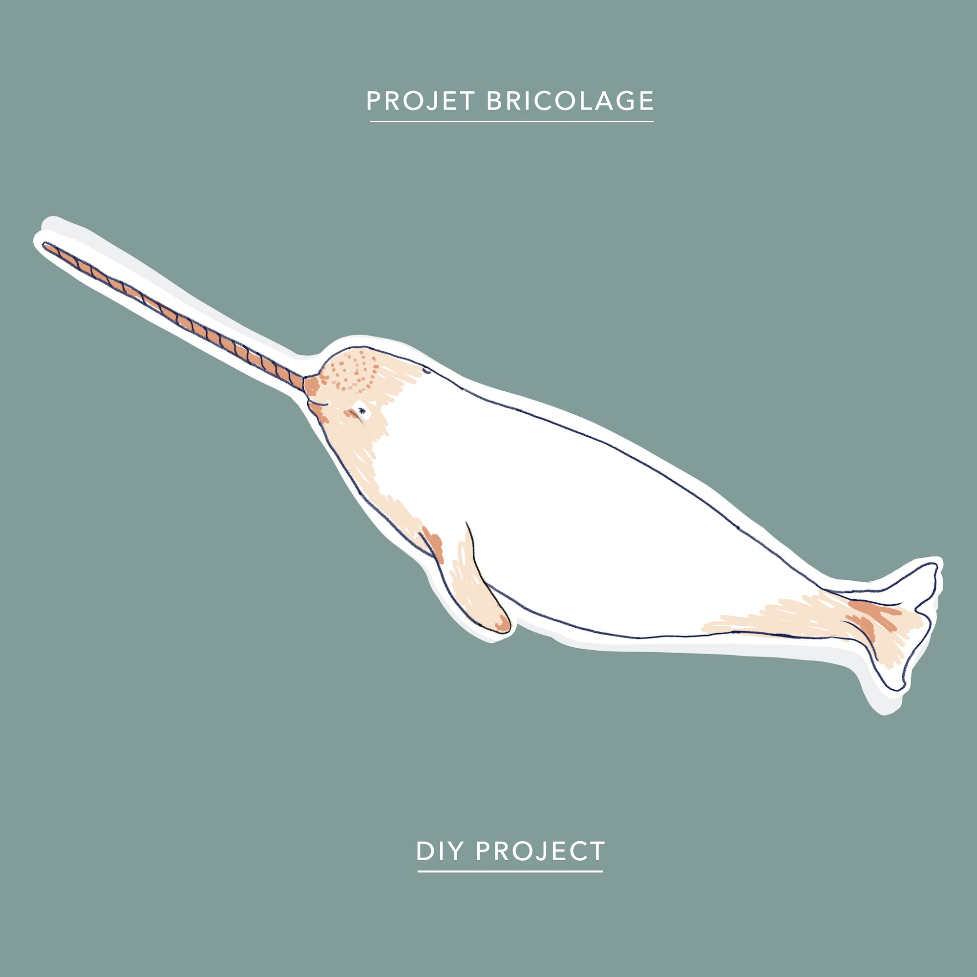 Narwhal paper folded animal download
