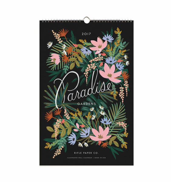 Rifle Paper co calendar paradise garden cover
