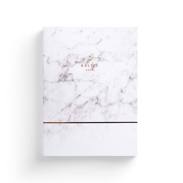 Rose-Gold and Marble Notebook by The Baltic Club