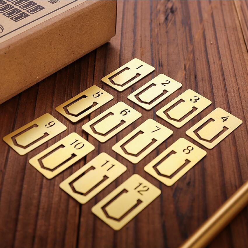 Brass numbers bookmark
