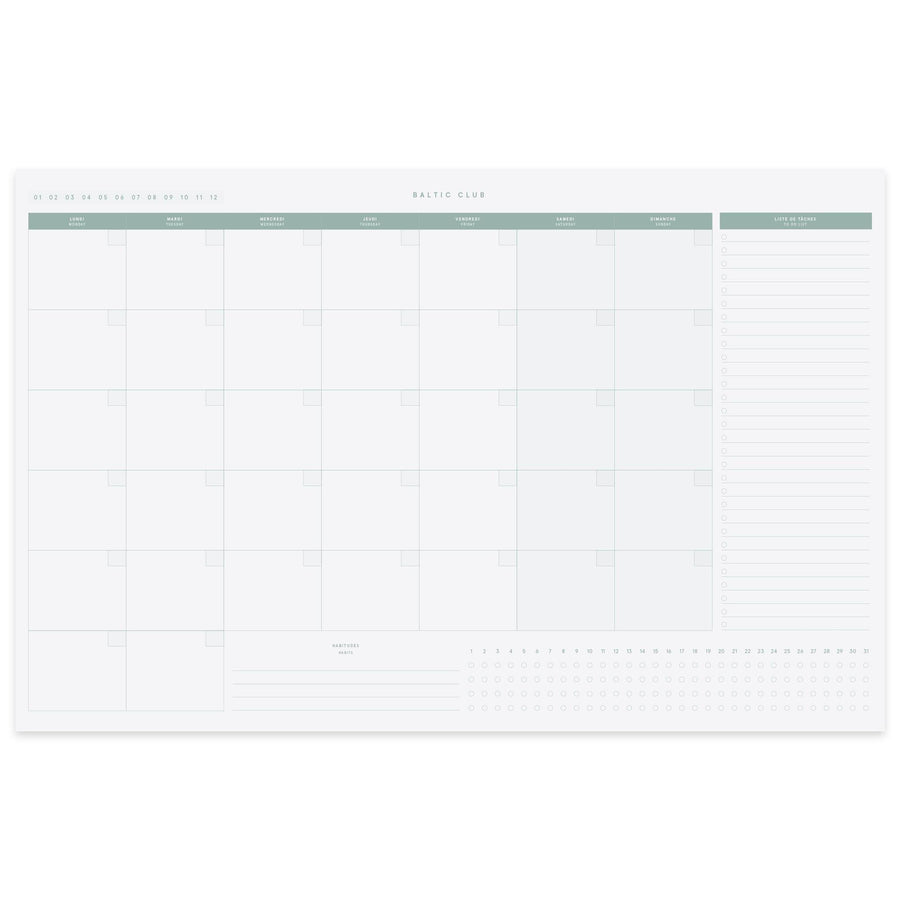Monthly Planner Desk Pad