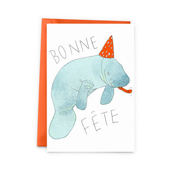 Manatee Happy Birthday Card - The Baltic Club