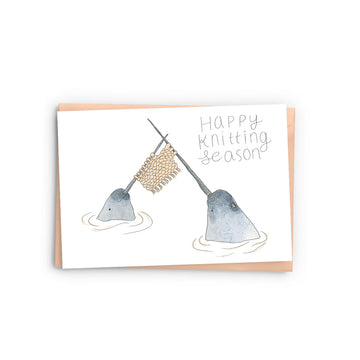 Knitting Narwhals Card - The Baltic Club