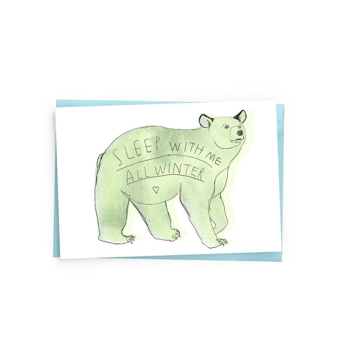 Winter Bear Card - The Baltic Club