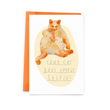 Selfie Cat Card - The Baltic Club