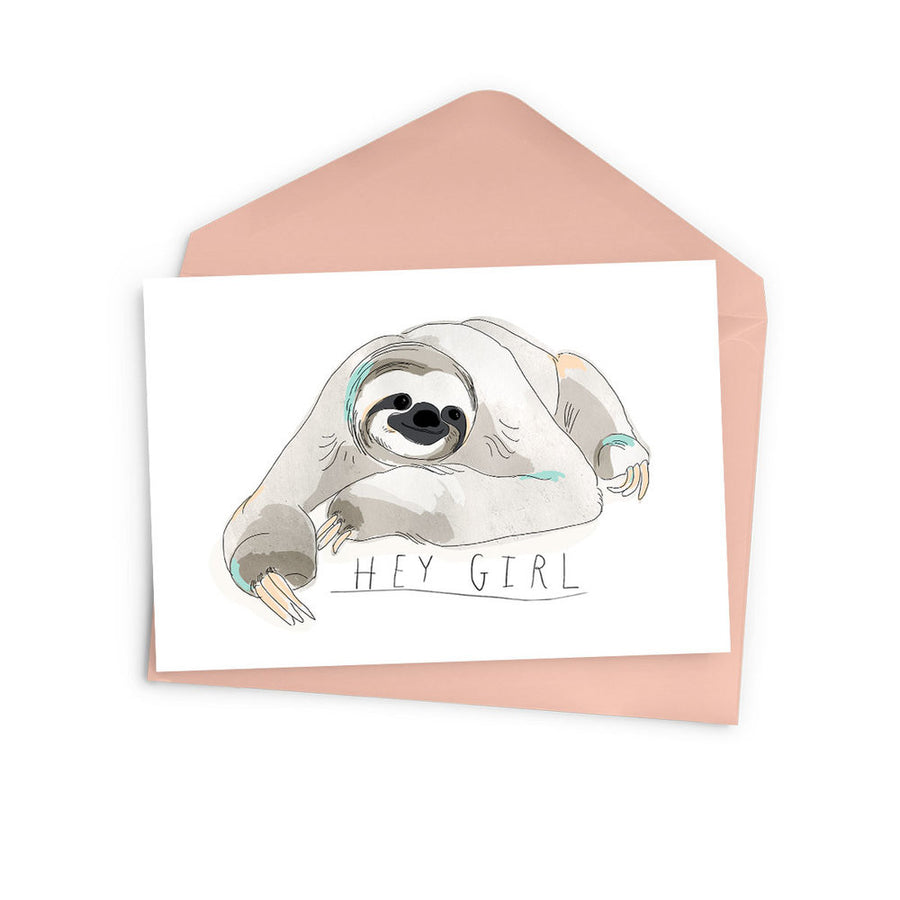 Hey Girl Sloth Card - The Baltic Club