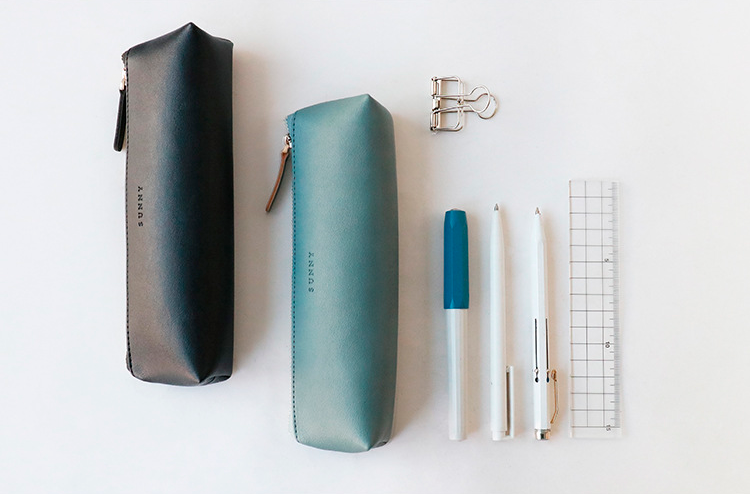 Vegan Leather Pencil Case
