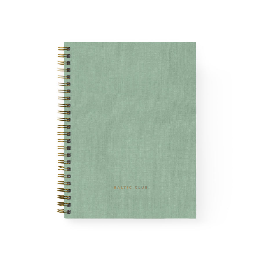 Mint Cloth Spiral Notebook