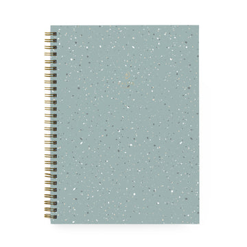 Large Mint Terrazzo Spiral Notebook