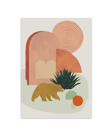 California Desert (Bear) Art Print