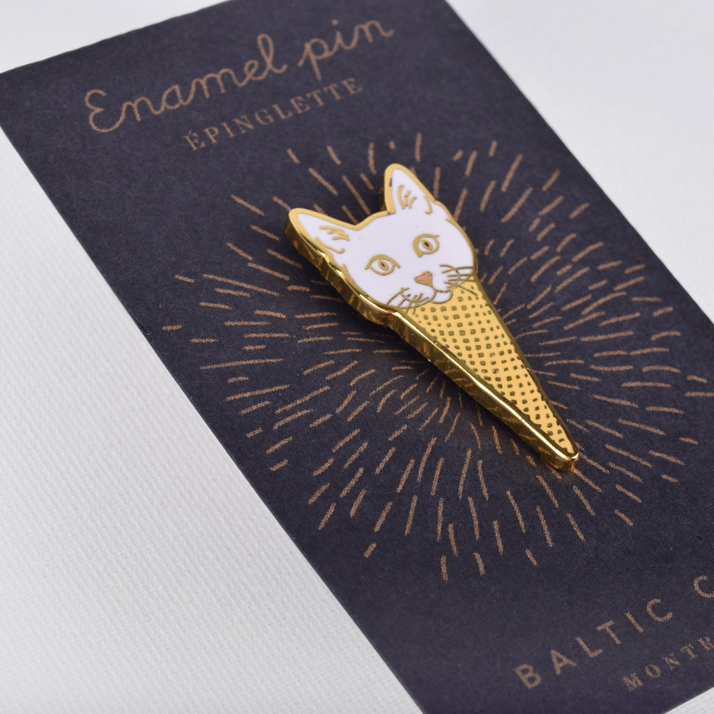 Ice Cream Cat Enamel Pin - The Baltic Club