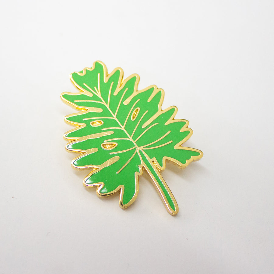 Monsterra Leaf Enamel Pin - The Baltic Club