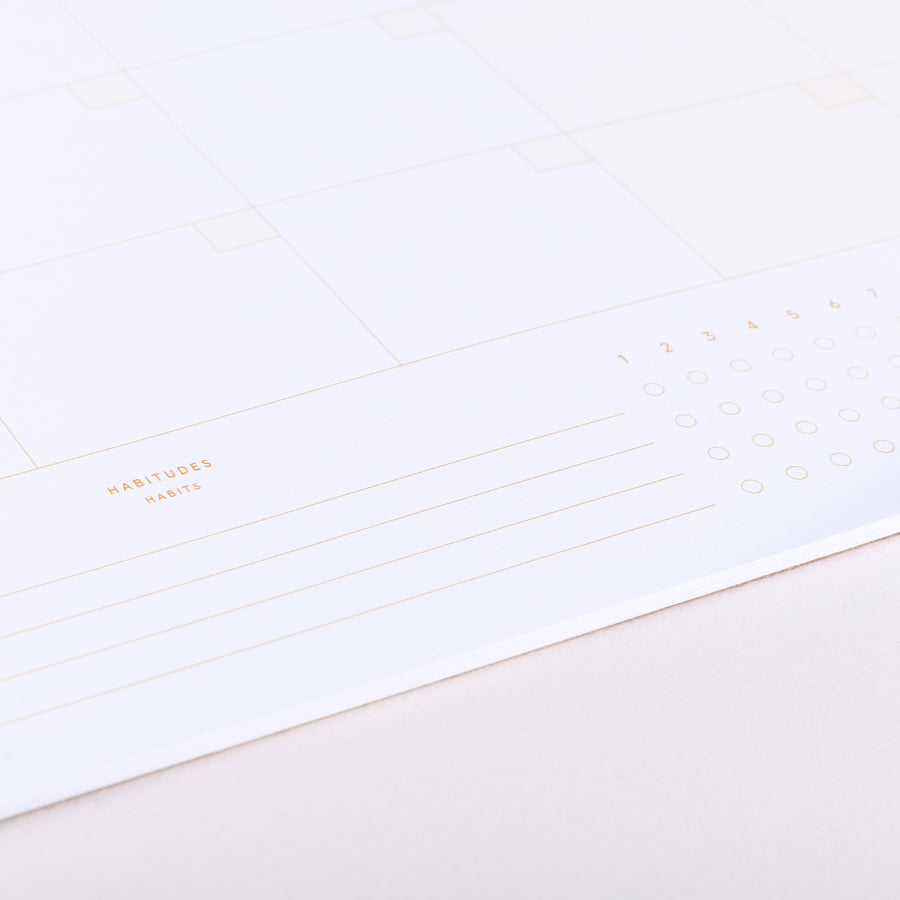 Monthly Planner Desk Pad - Sepia