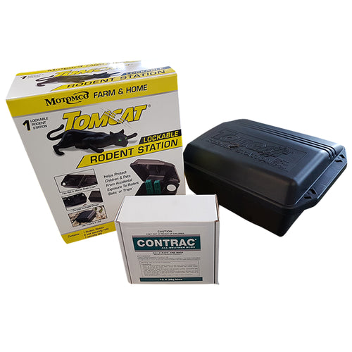 Tomcat® Rat Bait Station & 12pack of Bait