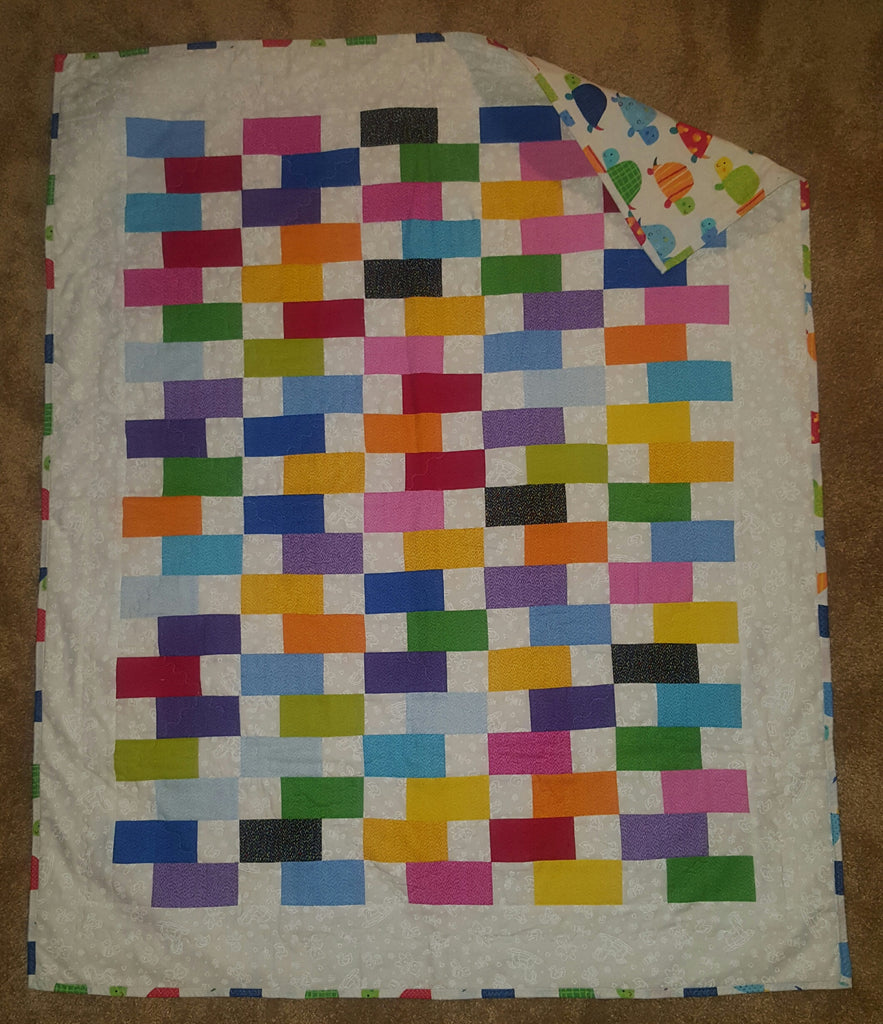 Baby Quilt Blocks.Baby Quilt Colorful Blocks